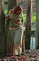 Sukne - Sukňa batikovaná, maľovaná, etno POKOJ - 11356087_