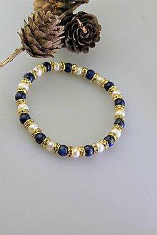 Náramky - náramok lapis a perla riečna - 11359389_