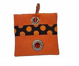 Pre zvieratká - Zásobník na WC vrecká Oranžová bodka - 11357304_