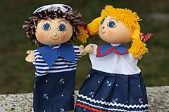 Hračky - Maňuška.  Námorníčkovia dievčatko a chlapec. - 11356714_