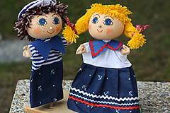 Hračky - Maňuška.  Námorníčkovia dievčatko a chlapec. - 11356715_