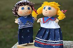 Hračky - Maňuška.  Námorníčkovia dievčatko a chlapec. - 11356716_