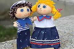 Hračky - Maňuška.  Námorníčkovia dievčatko a chlapec. - 11356718_