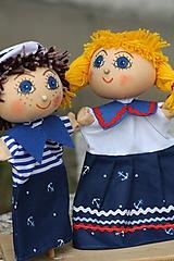 Hračky - Maňuška.  Námorníčkovia dievčatko a chlapec. - 11356719_