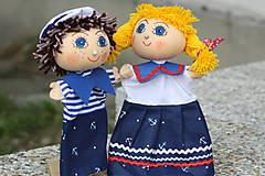 Hračky - Maňuška.  Námorníčkovia dievčatko a chlapec. - 11356720_
