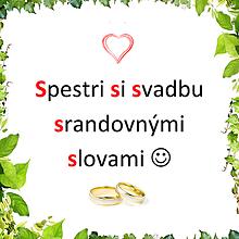 Grafika - Vtipný svadobný textík zo slov začínajúcich na rovnaké písmeno - 11355819_