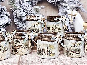 Svietidlá a sviečky - Vianočný svietnik - 11356795_