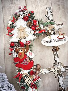 Dekorácie - Vianočný rebrík sobík - 11357623_