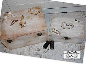 Krabičky - Krabice na šijacie potreby-darček krajčírke,babke :) - 11357971_