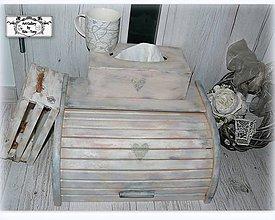 """Nádoby - Chlebník """"Vintage srdiečko"""" :) - 11358043_"""