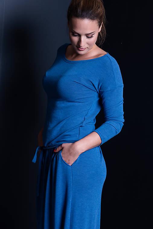 Šaty - Dlhé šaty s opaskom - 11359032_