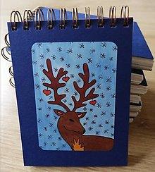 Papiernictvo - Zápisník, poznámkový blok, Vianočný sob - 11356595_