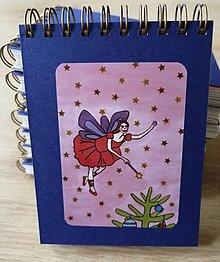 Papiernictvo - Zápisník, poznámkový blok, Vianočná víla - 11356645_