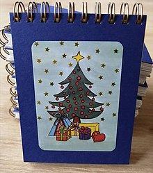 Papiernictvo - Zápisník, poznámkový blok, Vianočný stromček - 11356655_