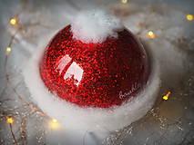 Dekorácie - Santa Hat s 3D fotkou - 11355890_