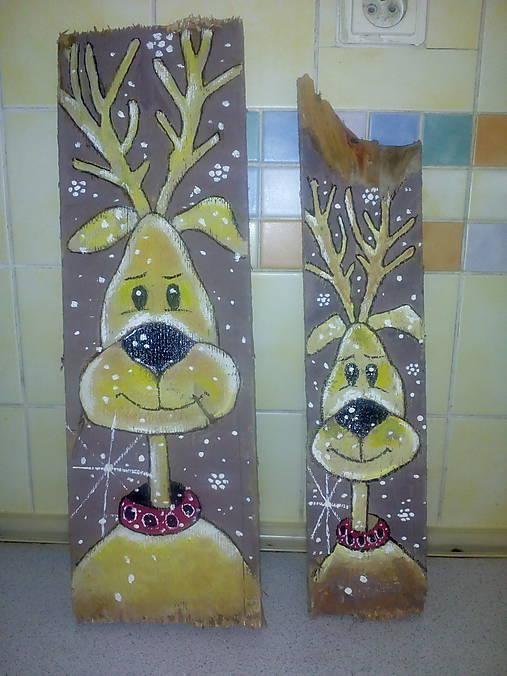 Drevený obrazok vianocny