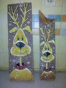 Dekorácie - Drevený obrazok vianocny - 11357901_