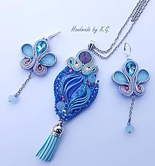 Sady šperkov - pastelová šujtášová sada - 11356852_