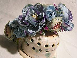 Ozdoby do vlasov - Čelenka-modrá hortenzia - 11358812_