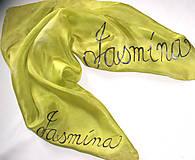 Šatky - Hodvábna šatka batika s menom - 11357737_