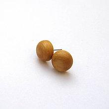 Náušnice - Drevené náušnice napichovacie - jaseňové vypuklé krúžky - 11358361_