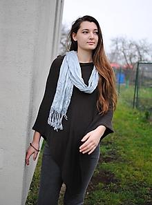 Iné oblečenie - Hnedé pončo - 11357322_