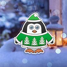 Dekorácie - Vianočná ozdoba tučniačik a hrejivý svetrík - 11357003_