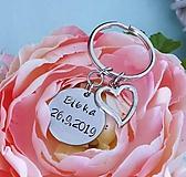 Kľúčenky - razená kľúčenka s textom  - 11360246_