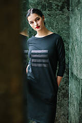 Šaty - FNDLK úpletové šaty 449 RVqL_glitter - 11359974_