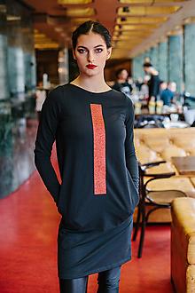 Šaty - FNDLK úpletové šaty 447 RVdL_glitter - 11359845_