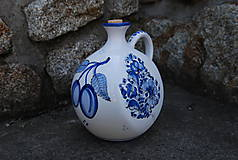 Nádoby - Fľaša na pálenku v modrom prevedení - 11360619_