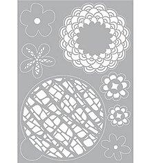 Pomôcky/Nástroje - Šablóna na maľovanie Kvety kruhy - 11360143_