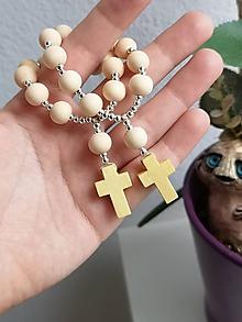 Iné šperky - Drevený ruženček do ruky - 11359456_