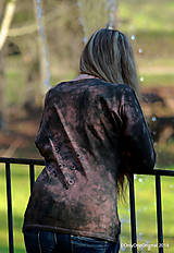 Tričká - Dámske šité tričko maľované, batikované TECH - 11359737_