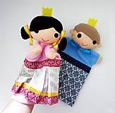 Hračky - Princ a princezná - sada maňušiek na ruku - 11362124_