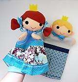 Hračky - Princ a princezná - sada maňušiek na ruku - 11362125_