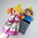 Hračky - Princ a princezná - sada maňušiek na ruku - 11362126_