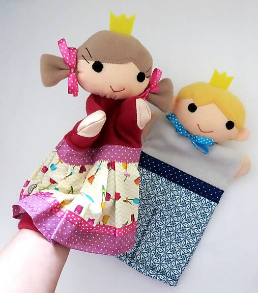 Princ a princezná - sada maňušiek na ruku
