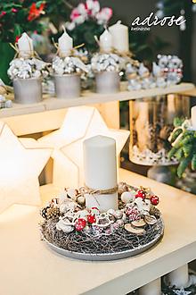 Dekorácie - Vianoce - svietnik - prírodný väčší - 11361037_