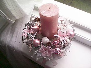 Dekorácie - Vianočný svietnik ... keď je všetko zasnežené ... - 11360479_