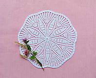 Úžitkový textil - Biela háčkovaná dečka - 11359960_