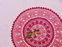 Úžitkový textil - Háčkovaná dečka Korálová červeň - 11360109_