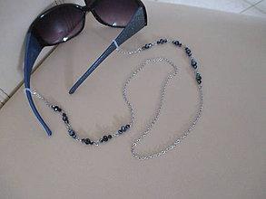 Iné šperky - Retiazka na okuliare - tmavomodrá - chirurgická oceľ - 11362169_