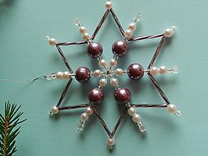 Dekorácie - Vianočná ozdoba č.4 - veľká koráliková hviezda - 11360419_