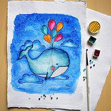 Detské doplnky - Veľryba Olinka - 11360129_