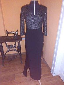 Šaty - Dlhé čierne šaty - 11361984_