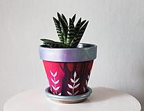 Nádoby - Terakotový kvetináč - Ligot fialkovej - 11362761_