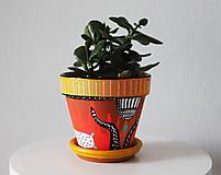Terakotový kvetináč - Srandy kopec