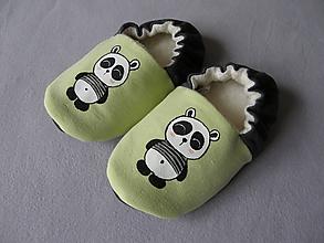 Topánočky - Papučky s pandou - 11360482_