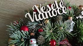 Dekorácie - Retro vianocny veniec - 11359773_